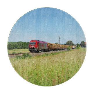 Goods train in Simtshausen Cutting Board