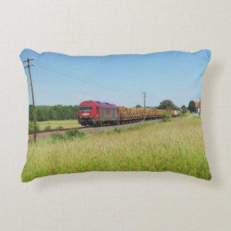 Goods train in Simtshausen Decorative Pillow