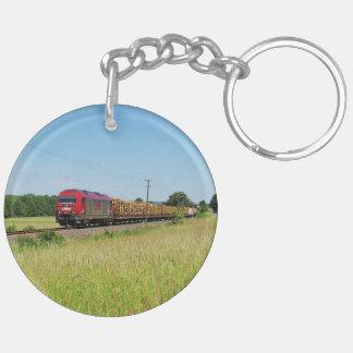 Goods train in Simtshausen Keychain