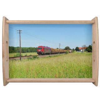 Goods train in Simtshausen Serving Tray