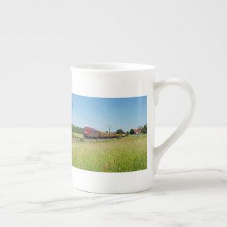 Goods train in Simtshausen Tea Cup
