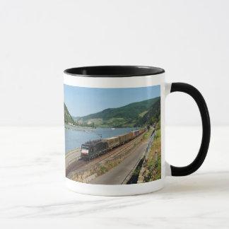 Goods train with ASS one ASS on the Rhine Mug