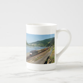 Goods train with ASS one ASS on the Rhine Tea Cup