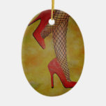 Goody Two Shoes Double-Sided Oval Ceramic Christmas Ornament