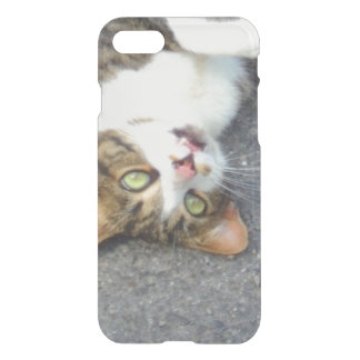 Goofball Upside Down Kitty iPhone 7 Case