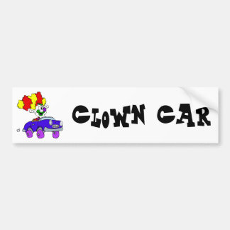Goofy Clown in little car Bumper Sticker