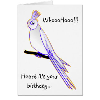 Goofy cockatiel card
