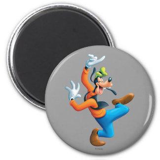 Goofy | Dancing 2 Inch Round Magnet