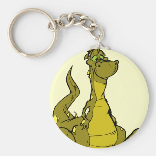 Goofy Dragon Keychain