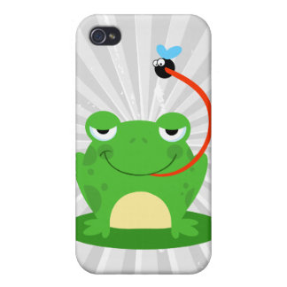 goofy frog catching a fly cartoon case for iPhone 4