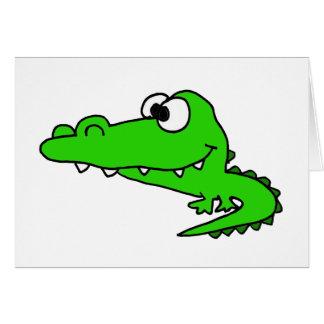 Goofy Gator Cartoon Card