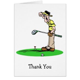 Goofy Golfer Thank You Cards