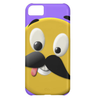 Goofy Happy Face with Mustache iPhone 5C Case