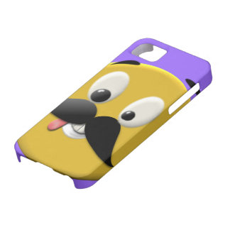 Goofy Happy Face with Mustache iPhone 5 Cases