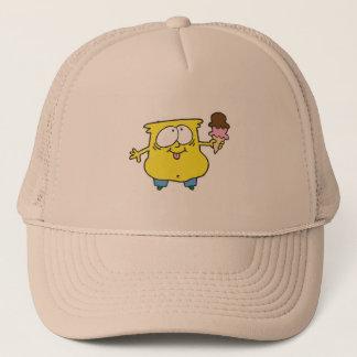 goofy ice cream monster trucker hat