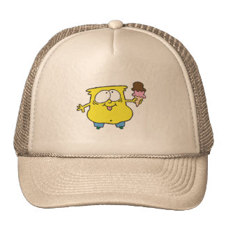 goofy ice cream monster trucker hat