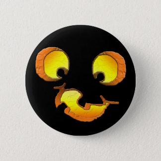 Goofy Jack-o-Lantern Button