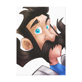 Goofy Man with a Large Mustache Canvas Print