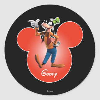 Goofy | Mickey Head Icon Classic Round Sticker