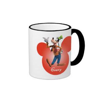 Goofy | Mickey Head Icon Ringer Coffee Mug
