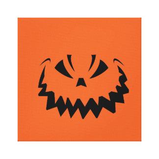 Goofy Orange Halloween Jack O'Lantern Canvas Print