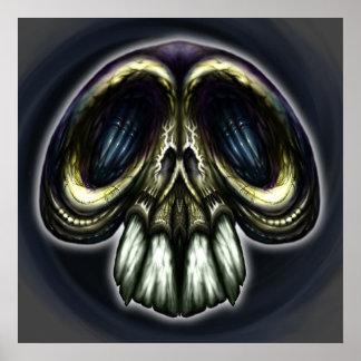 Goofy Ornate Skull Poster