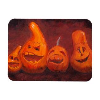 Goofy Pumpkin Family Original Art Magnet