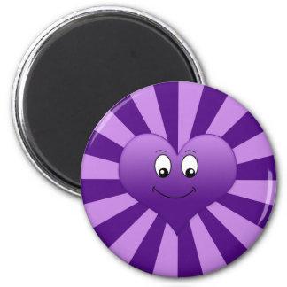 Goofy Purple Heart Magnet
