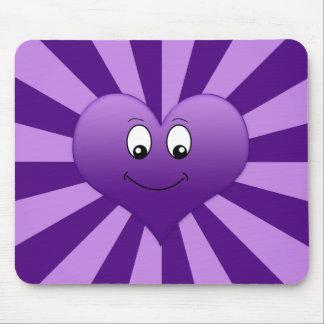 Goofy Purple Heart Mousepad