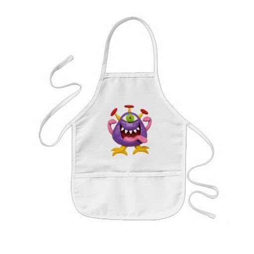 Goofy Purple Monster Aprons