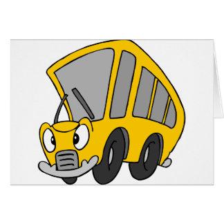 Goofy School Bus Card