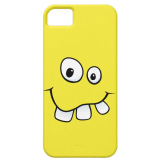 Goofy smiley face funny yellow iPhone 5 case