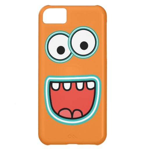 Goofy Smiling Googly Monster Face iPhone 5C Cover