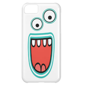 Goofy Smiling Googly Monster Face iPhone 5C Cases