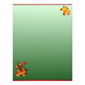 Goofy Thanksgiving turkey  letterhead_vertical. Customized Letterhead
