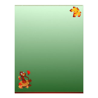Goofy Thanksgiving turkey  letterhead_vertical. Letterhead