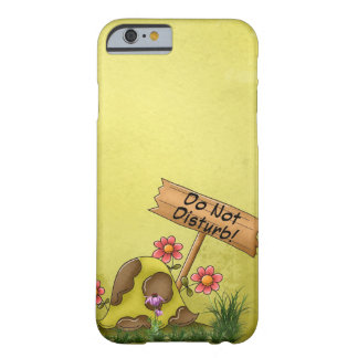 Goofy Turtle Green Do Not Disturb Tortoise Cute Barely There iPhone 6 Case