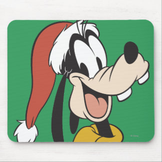 Goofy with Santa Hat Mouse Pad