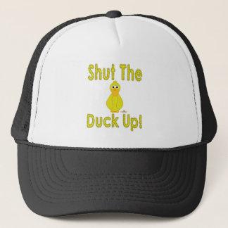 Goofy Yellow Duck Shut The Duck Up Trucker Hat