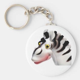 Goofy Zebra Keychain