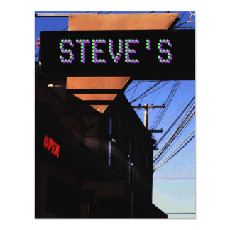 GOOGIE NEON SIGN (w/your name) ~ INVITATION