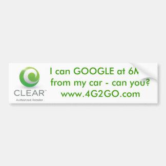 GOOGLE at 6Mps Bumper Sticker