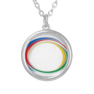 Google colors silver plated necklace