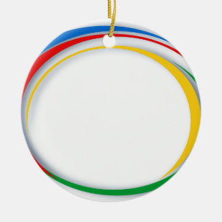 Google colours ceramic ornament