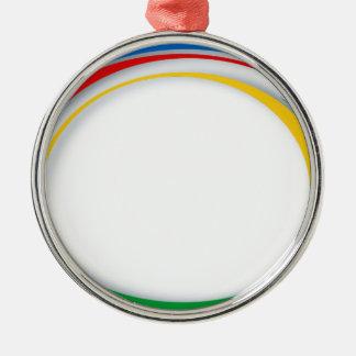 Google colours Silver-Colored round ornament
