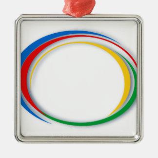 Google colours Silver-Colored square ornament