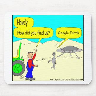 Google Earth Cartoon in color Mousepads