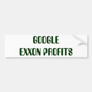 GOOGLE EXXON PROFITS BUMPER STICKER