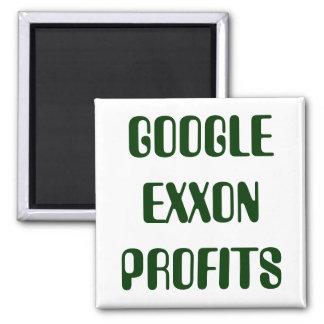 GOOGLE EXXON PROFITS SQUARE MAGNET