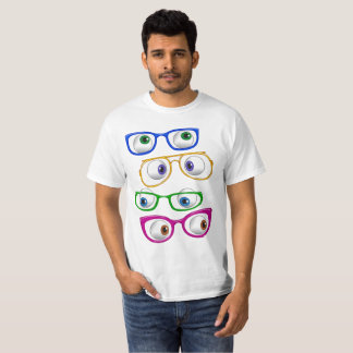 Google eyes with glasses T-Shirt
